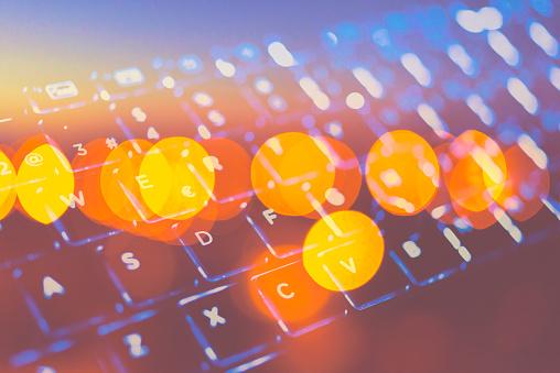 Futuristic laptop keywoard - gettyimageskorea