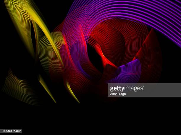 Futuristic lines. esports, live gaming in 3D. Light painting