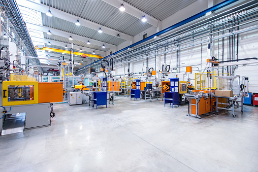 Futuristic machinery in production line 584585618