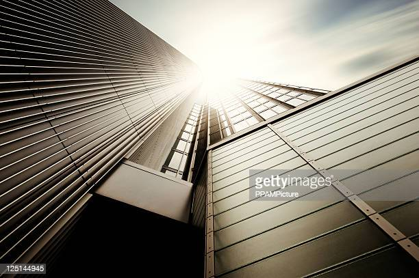 futuristic office building - tower stock pictures, royalty-free photos & images