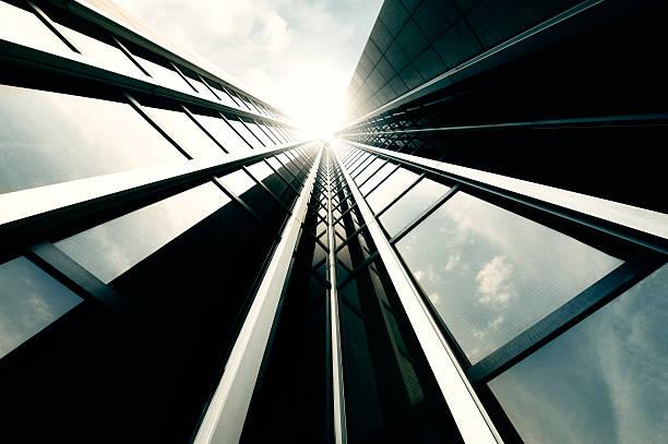 Futuristic Office Building Wall Art