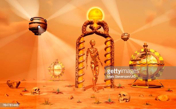 A Futuristic Or Alien Civilization.