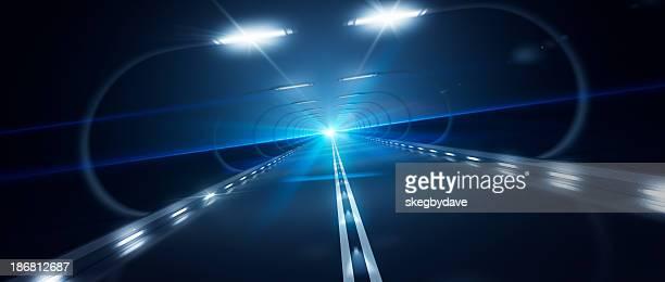 Futurista Road Zooming alta velocidad