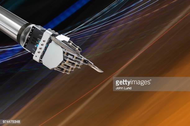 futuristic robot surgeon - scalpel stock photos and pictures