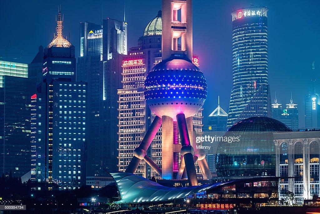 Futurista da cidade de Xangai, China : Foto de stock
