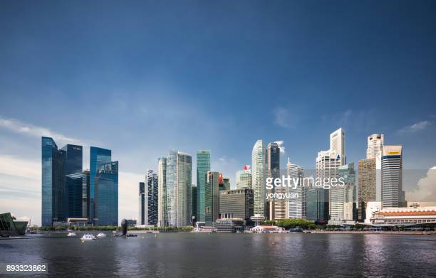 Futuristische Singapur Skyline