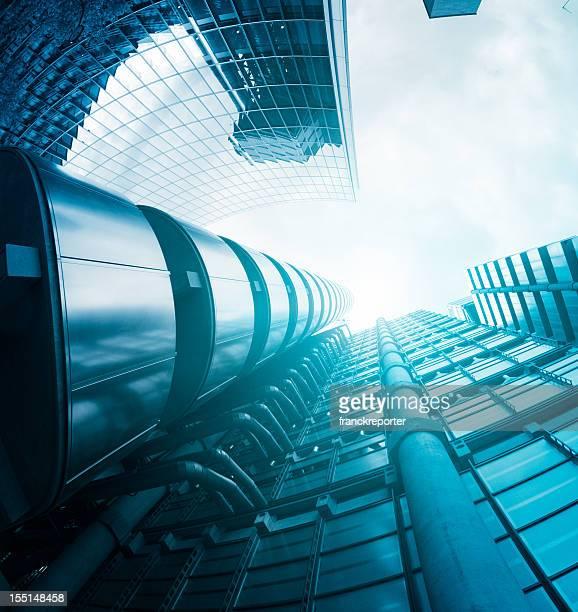 Futuristic skyline steel building in London
