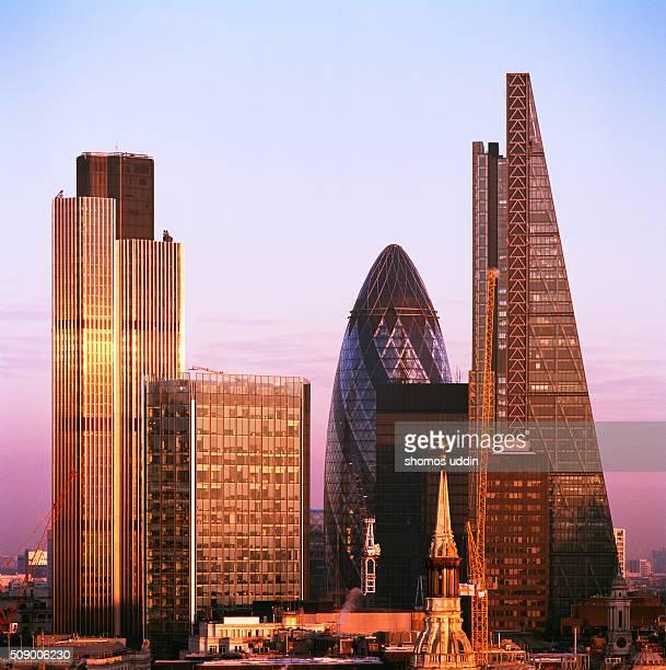 Futuristic skyscrapers in City of London