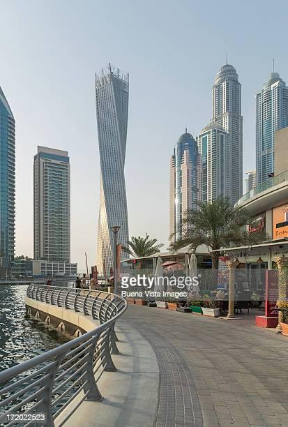Futuristic skyscrapers in Dubai Marina.