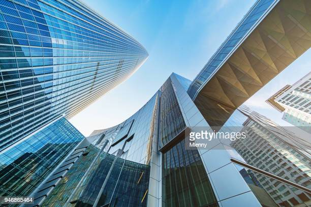 futuristic skyscrapers songpa-gu seoul south korea - seoul stock pictures, royalty-free photos & images