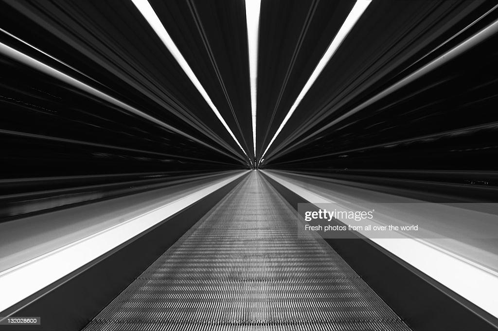 Futuristic Sky-walk : Stock Photo