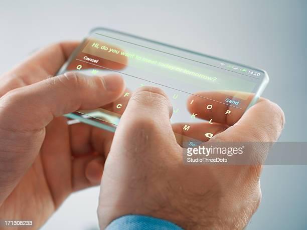 Futurista smartphone na Mão