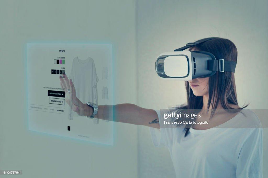 Futuristic sopping online : Stock Photo