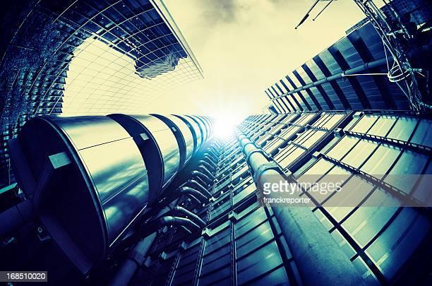 Futuristic steel building in London