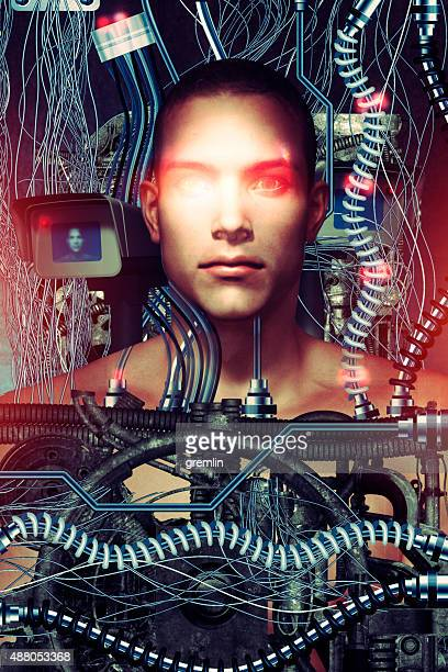futuristic surveillance and technology concept - eeg stock pictures, royalty-free photos & images