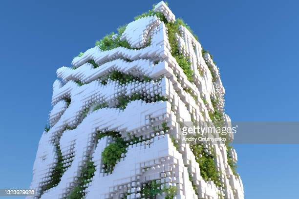 futuristic sustainable architecture - nature stock pictures, royalty-free photos & images
