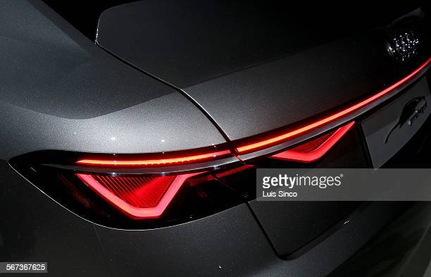 HOLLYWOOD CALIF NOV 18 2014 Futuristic taillights of Audi's new concept vehicle the Prologue which was unveiled during a press event Thursday night...