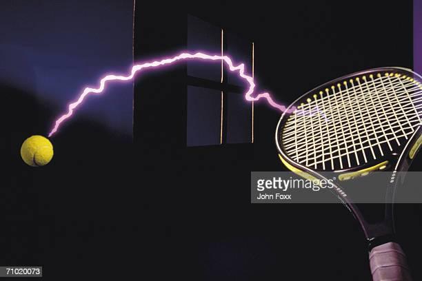 futuristic tennis shot