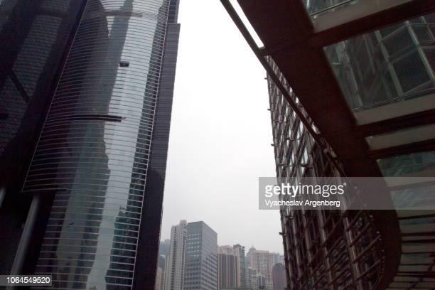 futuristic views of hong kong, china - argenberg bildbanksfoton och bilder