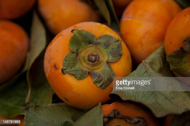 Fuyu persimmons at a farmers' market