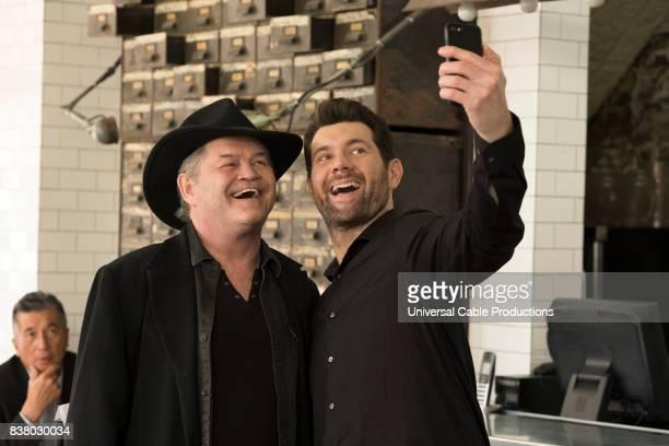 PEOPLE 'Fuzz Buddies' Episode 307 Pictured Micky Dolenz as himself Billy Eichner as Billy Epstein