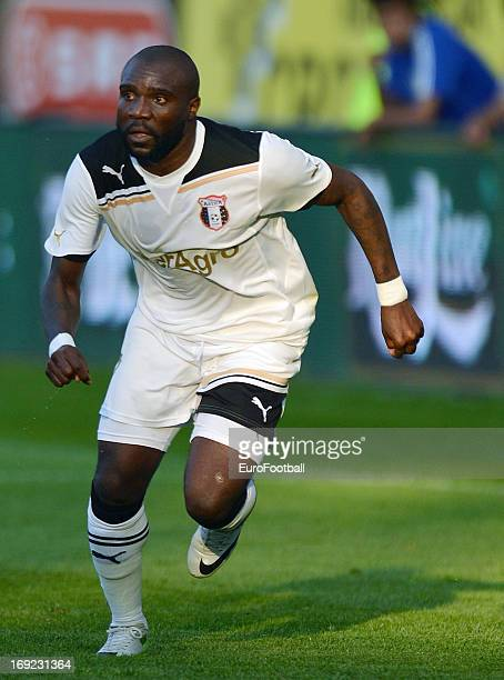 Fwayo Tembo of FC Astra Ploiesti in action during the Romanian First Division match between FC Petrolul Ploiesti and FC Astra Ploiesti held on May 18...