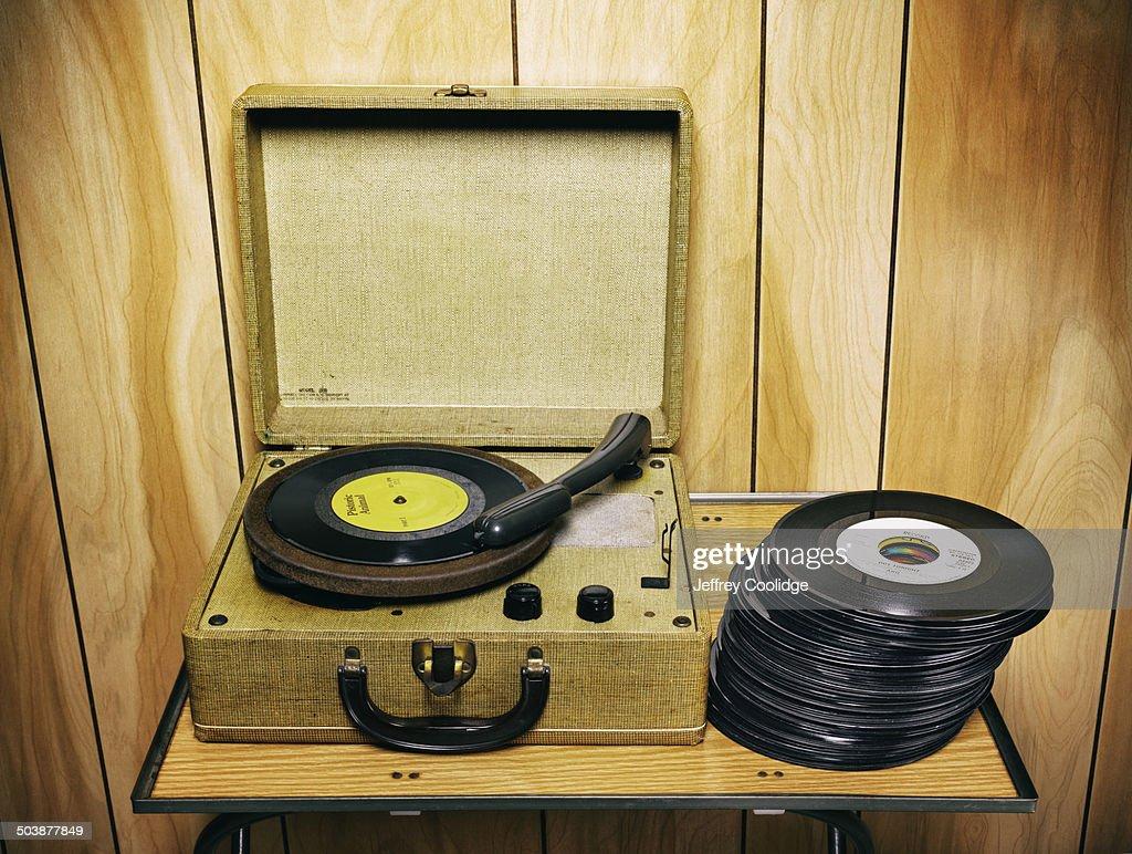 fx Vintage Record Player : Stock Photo