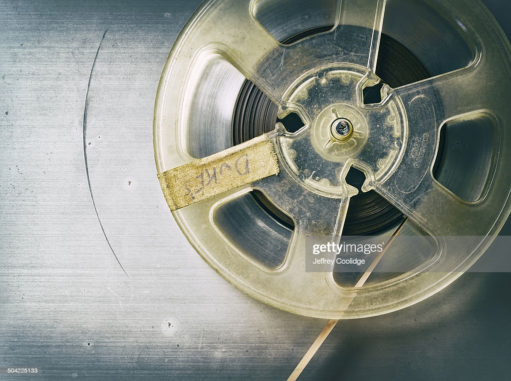 fx Vintage Reel of Magnetic tape : Stock Photo