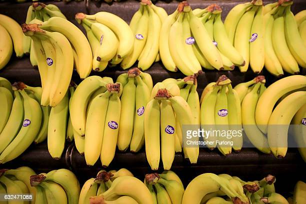 Fyffes bananas are seen for sale inside Rochdale's Morrisons supermarket on January 23 2017 in Rochdale England Wm Morrison Supermarkets Plc has over...