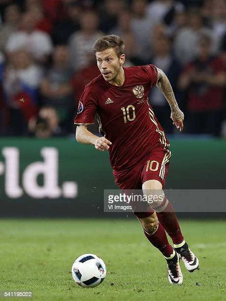Fyodor Smolov of Russia during the UEFA EURO 2016 Group B group stage match between Russia and Slovakia at the Stade Pierremauroy on june 15 2016 in...