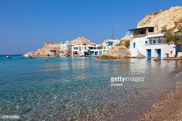 Fyropotamos bay in Milos, Greece