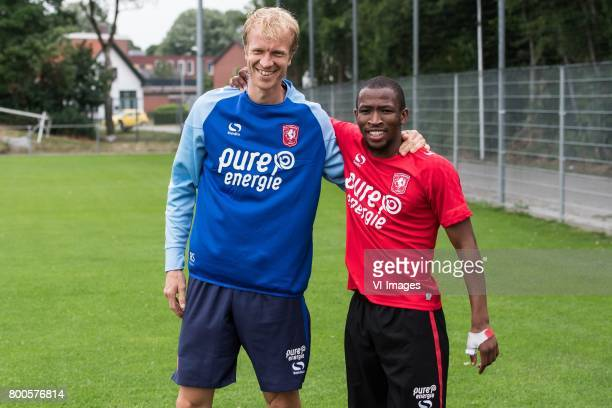 fysiotherapist Ralph Speerstra of FC Twente Kamohelo Mokotjo of FC Twenteduring a training session at Trainingscentrum Hengelo on June 24 2017 in...