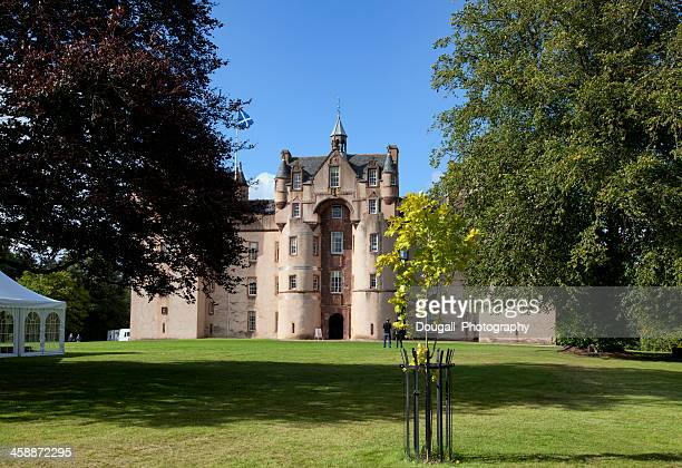 fyvie castle in aberdeenshire scotland - aberdeen scotland stock pictures, royalty-free photos & images