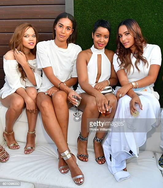 Bertille Sefolosha and Eudoxie Bridges Attend the LudaDay Weekend all white party Finale at Compound on September 5 2016 in Atlanta Georgia
