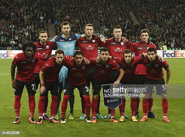 Gabala's players goalkeeper Dmitro Bezotosniy defender Magomed Mirzabekov midfielder Vitali Vernydub midfielder Vojislav Stankovic defender Urfan...