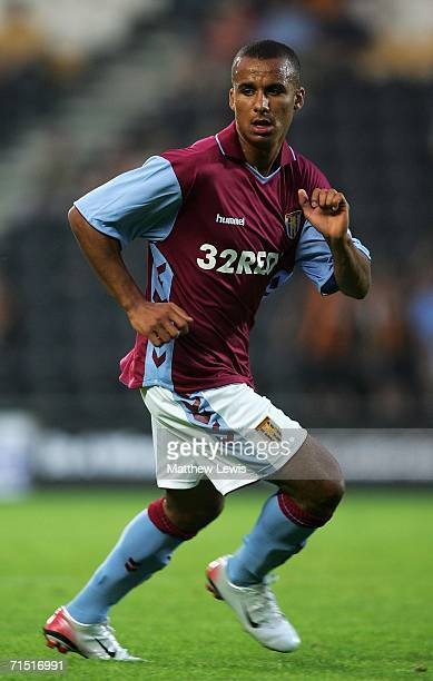 Gabbi Agbonlahor of Aston Villa in action during the Preseason Friendly match between Hull City and Aston Villa at the KC Stadium on July 25 2006 in...