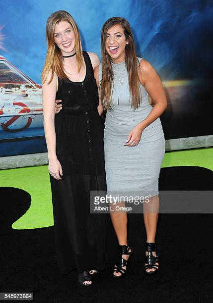 Gabbie Hanna and Erin Gilfoy arrive for the Premiere Of Sony Pictures' Ghostbusters held at TCL Chinese Theatre on July 9 2016 in Hollywood California