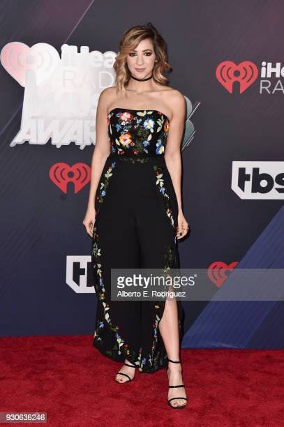 Gabbie Hanna arrives at the 2018 iHeartRadio Music Awards which broadcasted live on TBS TNT and truTV at The Forum on March 11 2018 in Inglewood...
