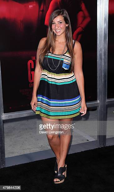 Gabbie Hanna attends the premiere of New Line Cinema's The Gallows at Hollywood High School on July 7 2015 in Los Angeles California