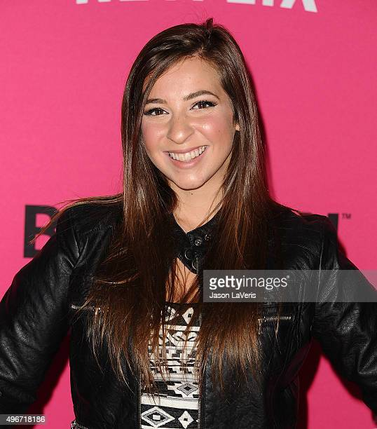 Gabbie Hanna attends the TMobile Uncarrier X launch at The Shrine Auditorium on November 10 2015 in Los Angeles California