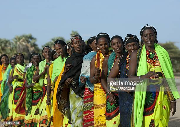 Gabbra dance in Kenya on July 15 2009 The Gabbra live in the Chalbi desert of northern Kenya where they share portions of the territory with the...