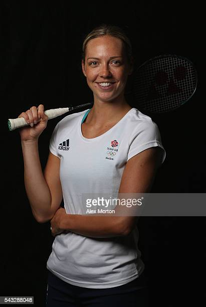 Gabby Adcock of Team GB during the Announcement of Badminton Athletes Named in Team GB for the Rio 2016 Olympic Games at the National Badminton...