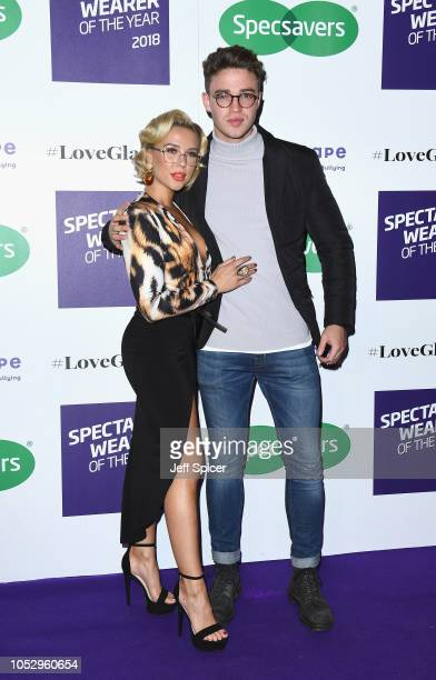 Gabby Allen and Ethan Allen attend the Specsavers 'Spectacle Wearer Of The Year' at 8 Northumberland Avenue on October 24 2018 in London United...