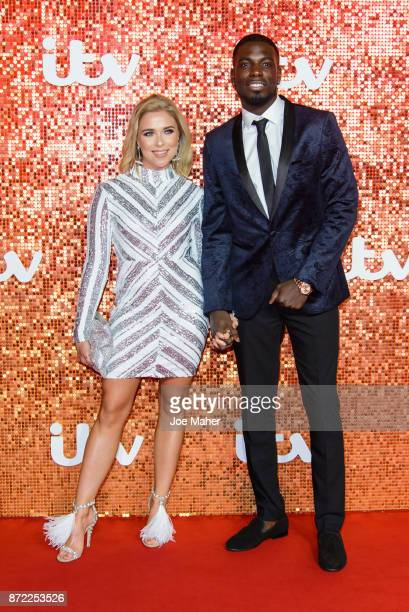 Gabby Allen and Marcel Somerville arriving at the ITV Gala held at the London Palladium on November 9 2017 in London England