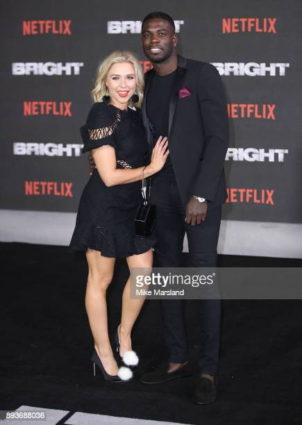 Gabby Allen and Marcel Somerville attend the European Premeire of 'Bright' held at BFI Southbank on December 15 2017 in London England