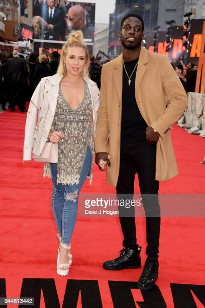 Gabby Allen and Marcel Somerville attend the European Premiere of 'Rampage' at Cineworld Leicester Square on April 11 2018 in London England