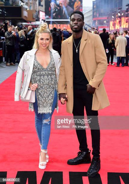 Gabby Allen and Marcel Somerville attending the European premiere of Rampage held at the Cineworld in Leicester Square London Picture date Wednesday...