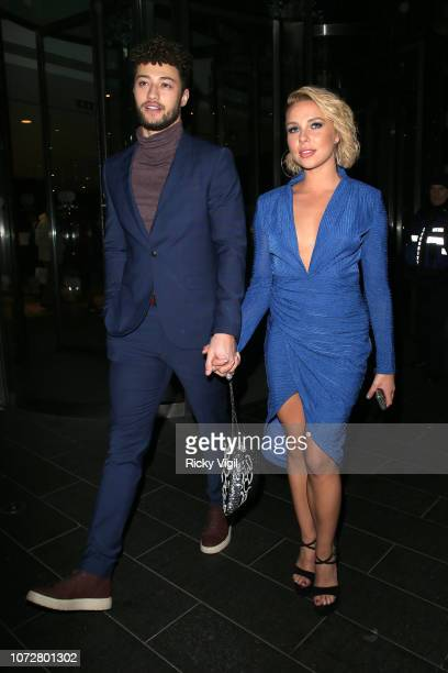 Gabby Allen and Myles Stephenson seen attending The Beauty Awards with OK at Park Plaza Westminster Bridge on November 26 2018 in London England