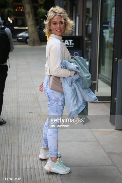 Gabby Allen arrives at AOL Build LDN to promote her new book 'Shape Up With Gabby Allen' on May 07 2019 in London England