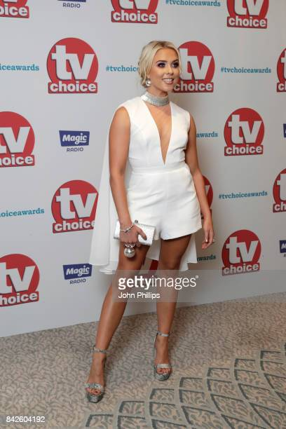 Gabby Allen arrives for the TV Choice Awards at The Dorchester on September 4 2017 in London England